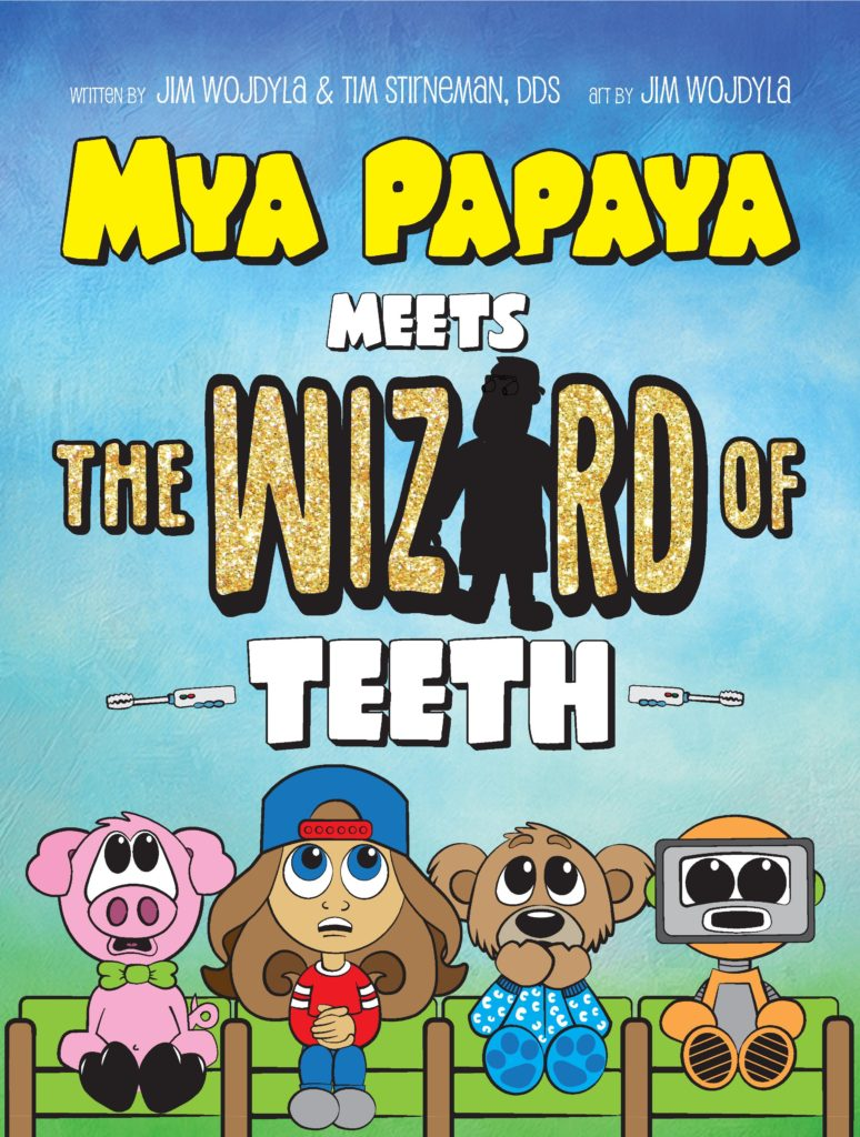 This is the cover of Mya Papaya's very first book!